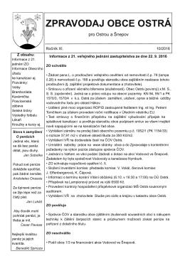 zpravodaj obce ostrá 10/2016