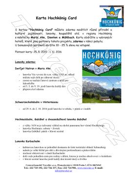 Karta Hochkonig Card 2016