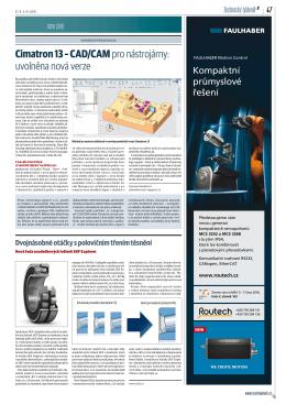 Cimatron 13 – CAD/CAMpro nástrojárny: uvolněna nová