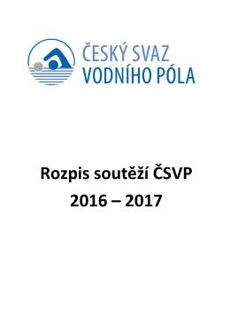 Rozpis soutěží 2016/2017