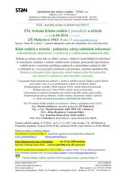 Více informací v PDF pozvánce