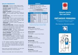 občanská poradna - Oblastní charita Ústí nad Orlicí