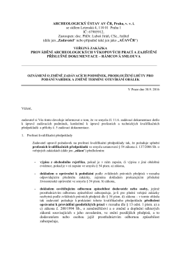 zadávací dokumentace - ARCHEOLOGICKÝ ÚSTAV AV ČR, Praha