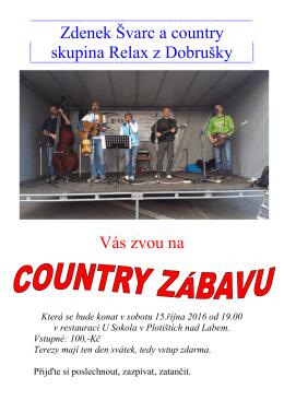 Agentura Kulina a country skupina Relax z Dobrušky