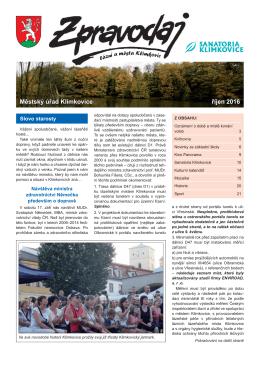 10-2016 - Město Klimkovice