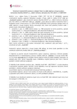 2. Prodej nemovitostí v Moravských Budějovicích (dlužník