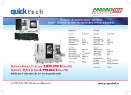 Quicktech Minimax 25i za cenu 2.850.000 Kč (bez DPH) Quicktech