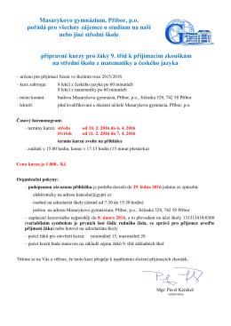 Masarykovo gymnázium Příbor