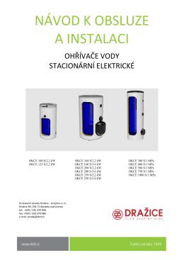 OKCE 100–200 S/2,2kW, OKCE 160–250 S/3–6kW, OKCE 300