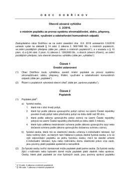 Obecně závazná vyhláška 2/2016