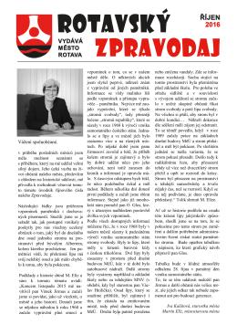 zpravodaj - Město Rotava