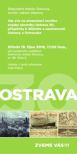 pozvánka - Archiv města Ostravy