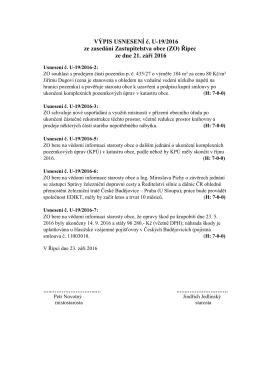 Usnesení ZO č. U