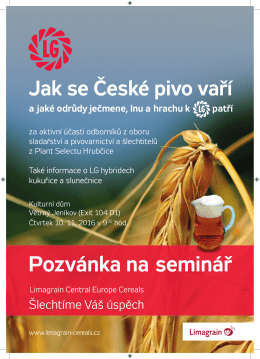Limagrain pozvánka seminář pivo 2016 A4.indd - Limagrain