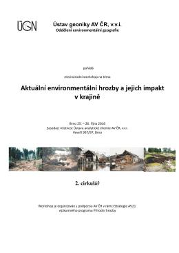 Aktuální environmentální hrozby a jejich impakt v krajině