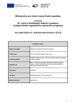Text výzvy č. 55 k 5.10.2016
