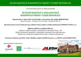 KLUB MAJITELŮ RODINNÝCH FIREM V ČESKÉ REPUBLICE