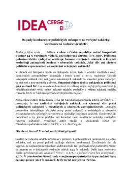Dopady konkurence politických uskupení na - IDEA - cerge-ei