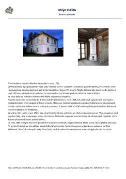 Mlýn Bašta - Městská knihovna Nymburk