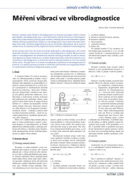 Měření vibrací ve vibrodiagnostice
