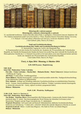 Program - Archiv hlavního města Prahy