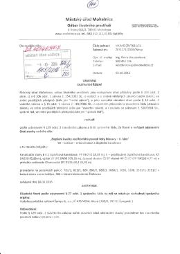 """Městský úřad Mohelnice"""" r:rjbor životního plrostřecli"""