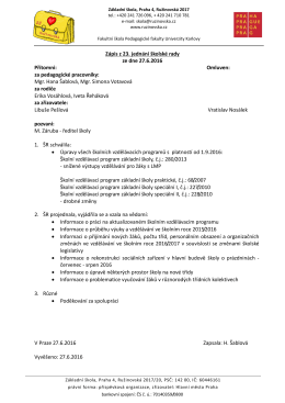Zápis z 23. jednání školské rady (2016)