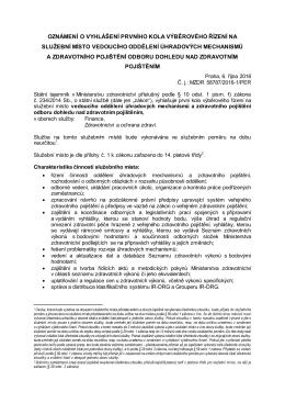 V DZP.3 vol. 2, 1. kolo - Ministerstvo zdravotnictví