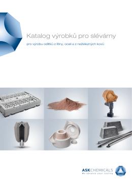 Katalog výrobků pro slévárny