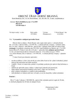 Dohoda s dotčeným správním úřadem (DSÚ- dříve