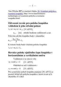 — 1 — Odvození rovnic pro polohu šoupátka vzhledem k jeho