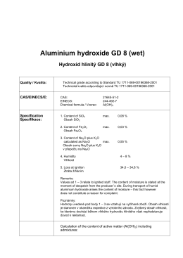 Aluminium hydroxide GD 8 (wet)