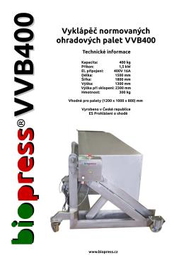 VVB400 - biopress