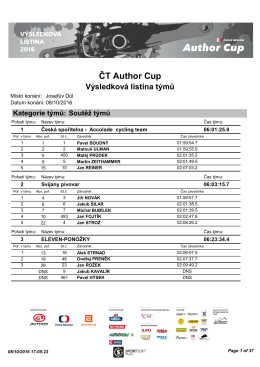 ČT Author Cup