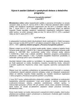 PKJ 2017 - Výzva - Ministerstvo vnitra České republiky