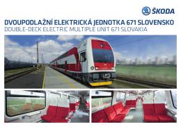 dvoupodlažní elektrická jednotka 671 slovensko