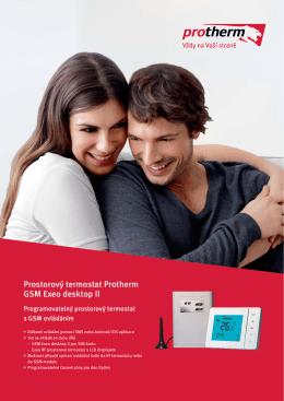 Prostorový termostat Protherm GSM Exeo desktop II