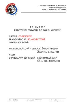 Více informací - 33. základní škola Plzeň