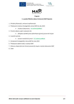 Program zasedání