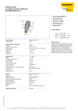 Indukční senzor