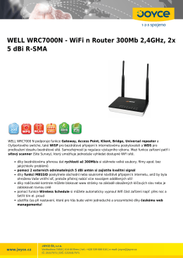 WELL WRC7000N - WiFi n Router 300Mb 2,4GHz, 2x 5