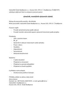 Více informací - Výstaviště České Budějovice as