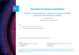 pozvánka na tiskovou konferenci - Svaz průmyslu a dopravy České
