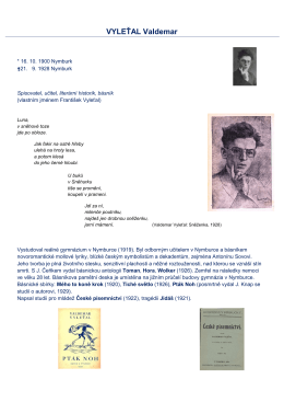 VYLEŤAL Valdemar - Městská knihovna Nymburk
