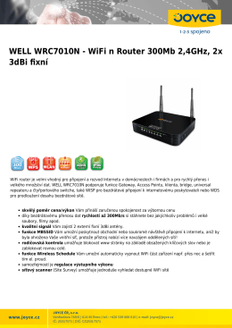 WELL WRC7010N - WiFi n Router 300Mb 2,4GHz, 2x