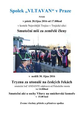 Tryzna 2016 - Spolek »Vltavan« v Praze