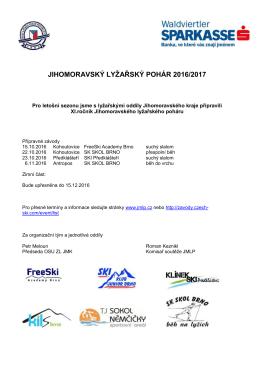 Přebor TJ Sokol Blansko, Okresní přebor SLČR