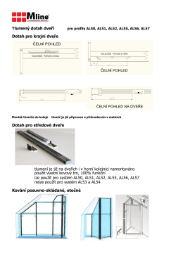 Katalog tlumený dotah a zavěšené dveře 05.2016