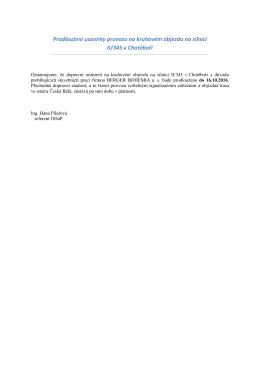 Prodloužení uzavírky provozu na kruhovém objezdu na silnici II/345