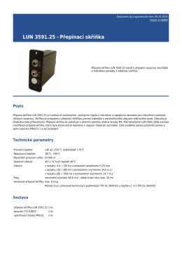LUN 3591.25 - Přepínací skříňka